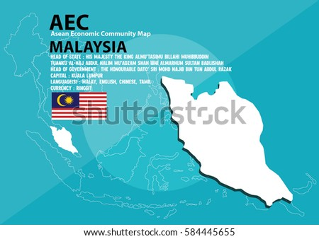 Malaysia world map malaysia southeast asia vector de stock584445655 malaysia world map malaysia are in southeast asia and in aec group gumiabroncs Images