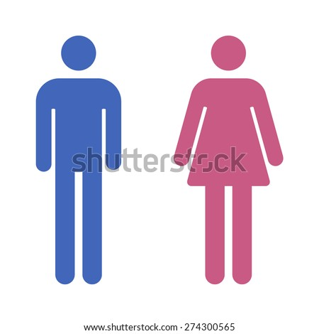 Male Female Bathroom Restroom Sign Flat Stock Photo Photo Vector - Male bathroom sign