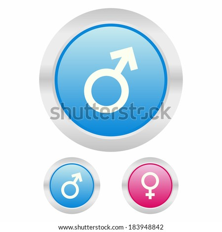Male and female icon - stock vector