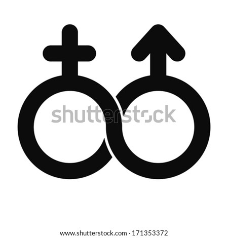 male and female Limitless symbol, vector - stock vector