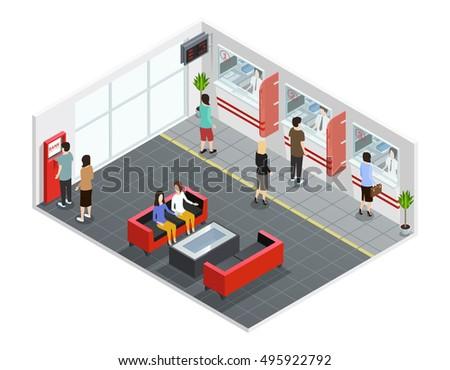 Bank Interior Stock Images RoyaltyFree Images Vectors