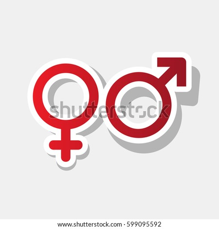 Male Female Signs Joyful Cartoon Style Stock Vector 106395185 ...
