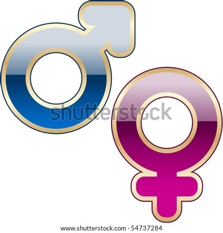 Male and female symbol. Vector illustration.