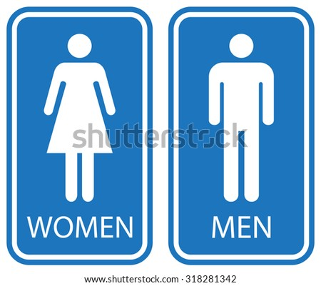 Bathroom Signs Male Female restroom signs illustration stock vector 67963087 - shutterstock