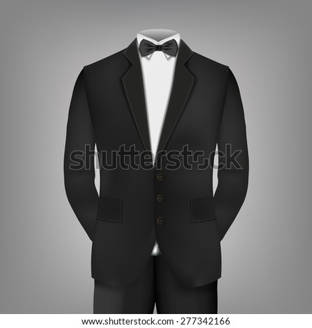Male clothing suit - stock vector