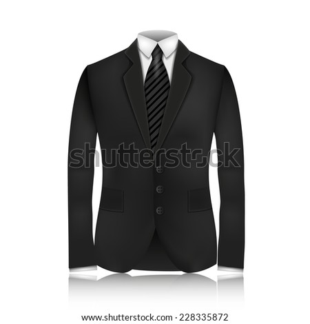 Male clothing suit. Vector Illustration, contains transparencies. - stock vector