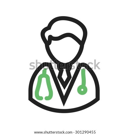 Male Doctor Male Doctor Icon Vector Stock Vector Royalty Free
