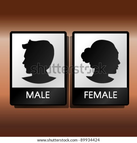 male female couple sign - stock vector