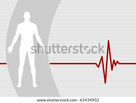 Male on pulse background - stock vector