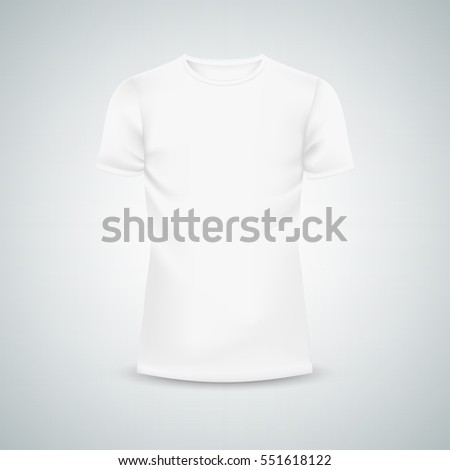 Male T-shirt template mockup. 3d Illustration isolated background. Graphic concept for your design