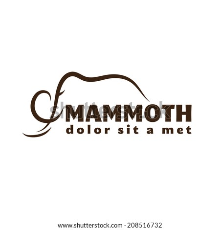 mammoth outline illustration - stock vector
