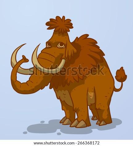 Mammoth, vector - stock vector
