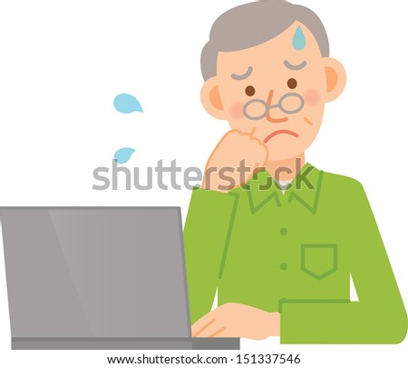 man - stock vector