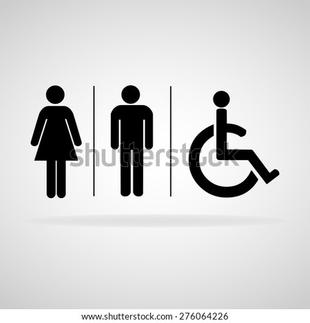 Man and lady toilet sign, Vector illustration - stock vector