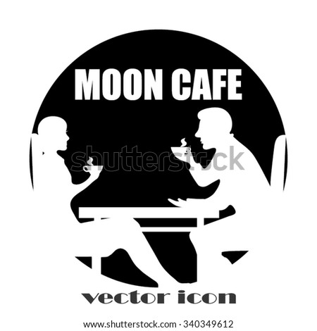 man and woman in cafe - stock vector