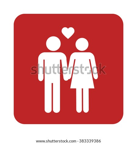 Man and Woman in Love isolated icon isolated vector