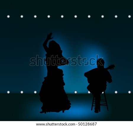 man and woman performing flamenco on stage