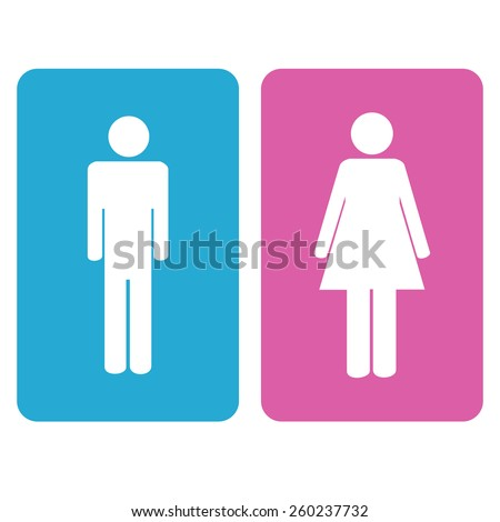 Man and woman signs on a white background. Vector Illustration - stock vector