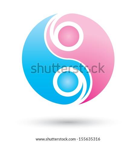 man and woman symbol, vector illustration, Logo template design - stock vector