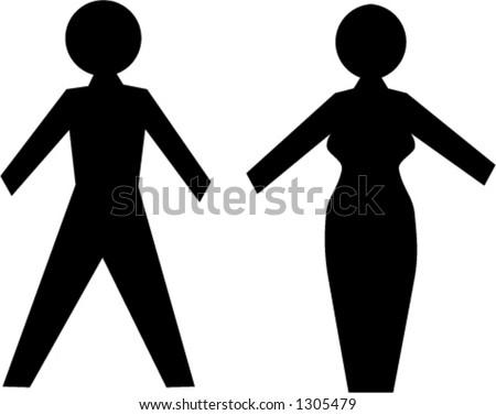 Man and Woman Symbols - stock vector