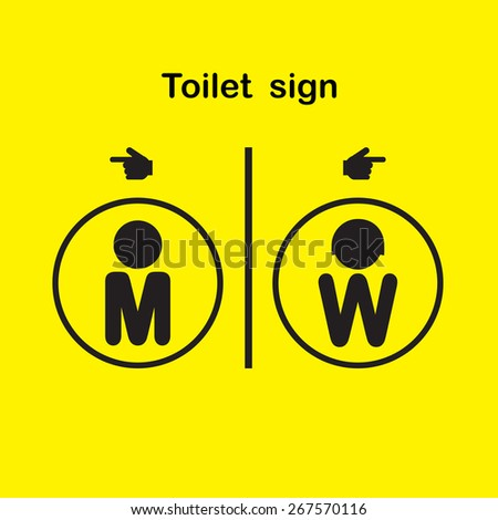 Man and woman toilet sign, restroom symbol. Vector illustration - stock vector