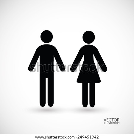 Man and woman. Vector illustration.