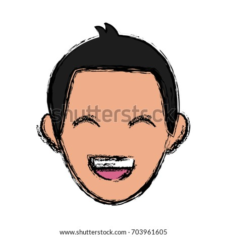 Man Face Character People Employee Profile Stock Vector