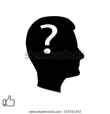 man, head, question, gear, icon, vector illustration EPS 10