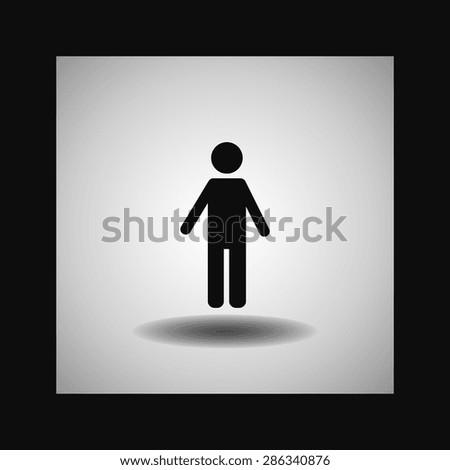 man icon. Flat design style - stock vector