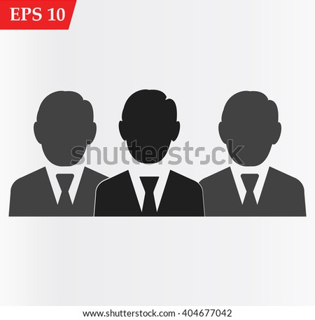 Man icon.Group human icon.Vector illustration