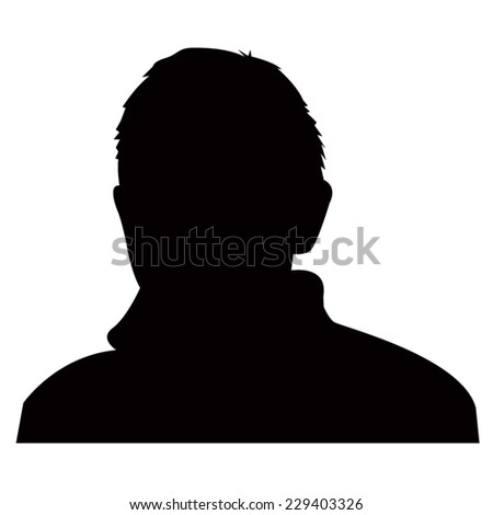 Man icon silhouette - stock vector