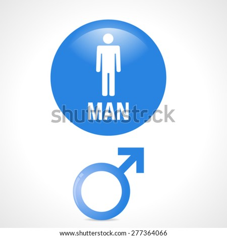 Man icons. Set elements for design. Vector illustration. - stock vector