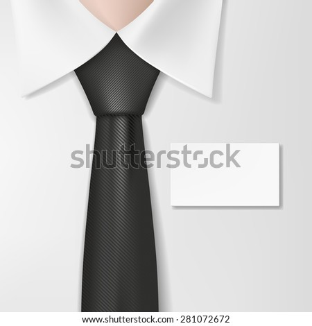Man in a shirt with a tie and badge - stock vector