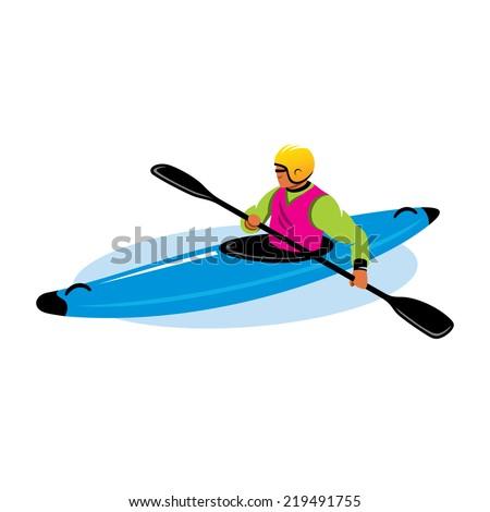man canoe branding identity corporate vector stock vector 2018