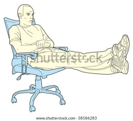 man in the office 4 - stock vector
