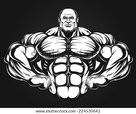 Man of iron - stock vector