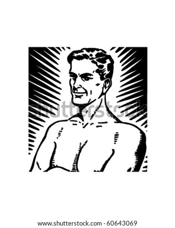 Man Of Power - Retro Clip Art