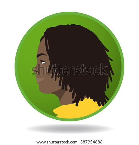 man profile icon, face as seen from the side, avatar, vector illustration - stock vector