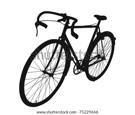 Man's Antique Bike in vector format