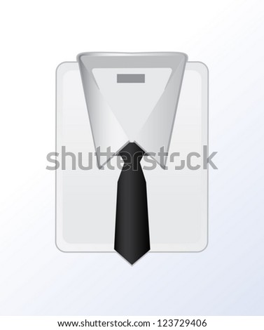 Man's shirt and tie isolated on white