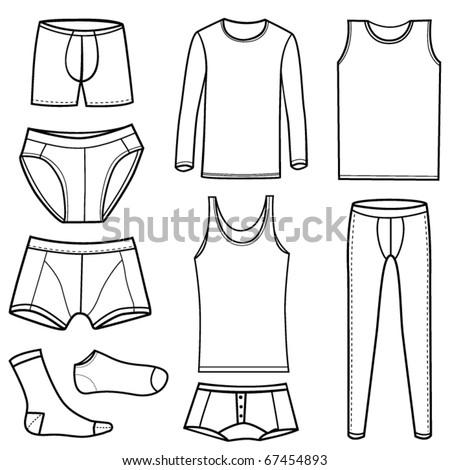man's underwear set - stock vector