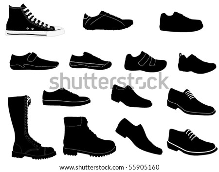 Man shoes - stock vector