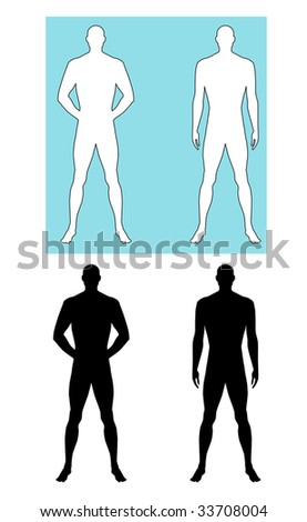 Man silhouette - stock vector