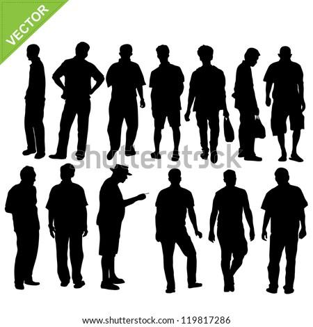 man silhouette vector - stock vector