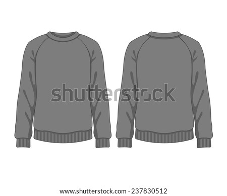 Man sweatshirt. Vector template - stock vector
