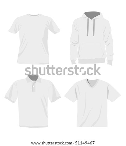 man t-shirt templates - stock vector