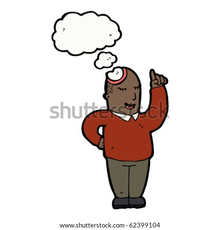 man with idea cartoon - stock vector