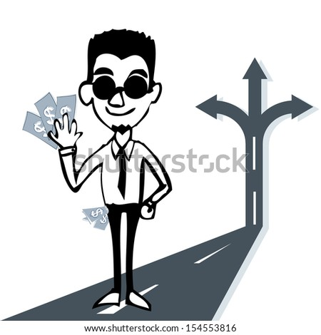 man with money concept - stock vector