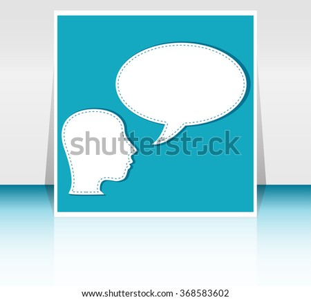 man with Speech Bubbles over his head vector illustration - stock vector