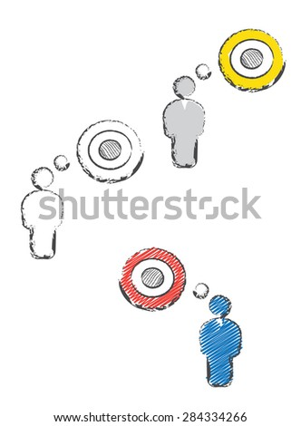 man with target - stock vector